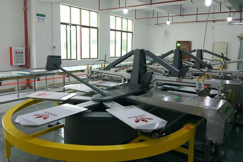 Silicone Ink Manufacturer Testing Oval Printing