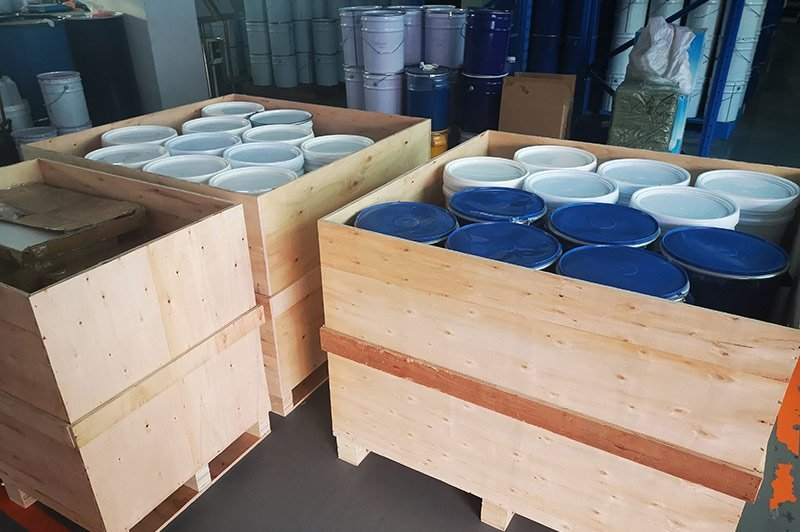 Silicone Ink Manufacturer Warehouse Shipping Package