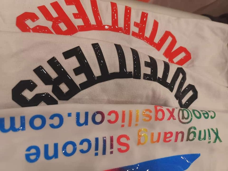hd glossy silicone printing effect